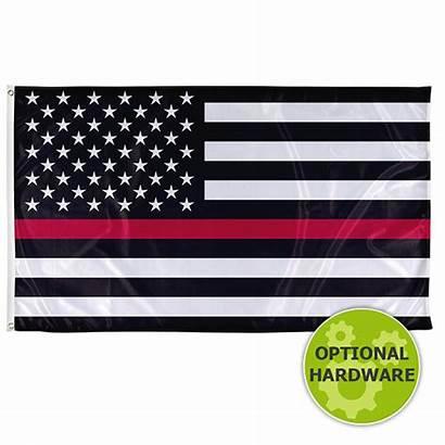Flag Line Thin Military Flags American Usa