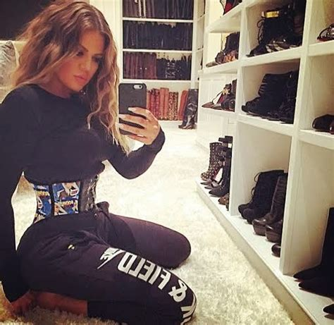 khloe shows boots closet while