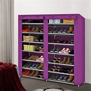 Roller, Door, Cabinet, Non, Woven, Simple, Shoes, Stand, Ultra, Thin, Storage, Rack, With, Double, 7, Shelves