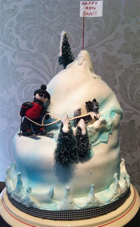 images  dog sledding cakes  pinterest