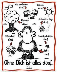 Ohne Dich Ist Alles Doof : sheepworld ohne dich ist alles doof mini poster mini ~ Watch28wear.com Haus und Dekorationen