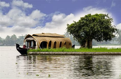 House Boat Drawing by House Boat Kerala Drawing