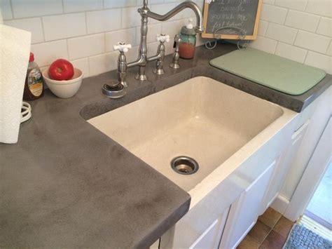 concrete farmhouse sink  cool grey concrete countertops farmhouse kitchen orlando