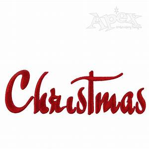 Christmas Story Embroidery Font