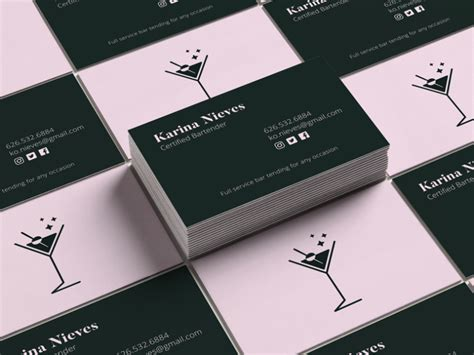 bartender business card designs templates psd ai