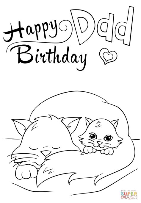 happy birthday dad coloring page  printable coloring