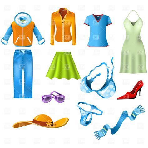 Clip Clothes Clothes Vector Illustration Of Fashion