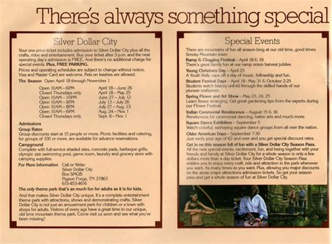 dollywood pre  silver dollar city park brochure