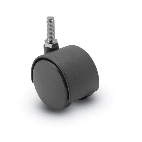 60mm wheel chair casters with threaded stems