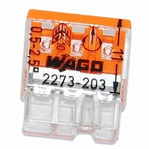 Wago 2273 203 : wago 3 way compact push wire connector orange 3x 0 5 ~ Orissabook.com Haus und Dekorationen
