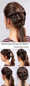 Coiffure Queue De Cheval : coiffure avec queue de cheval ~ Melissatoandfro.com Idées de Décoration