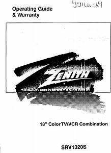 Zenith Tv  Vcr Or Dvd Combo Manual 97090029