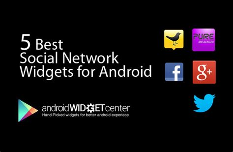widget for android 5 best social network widgets for android