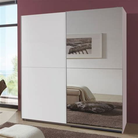 Mirrored Wardrobe With Shelves by Quest White Robe 2 Door Slidingwardrobe With 1 Mirrored