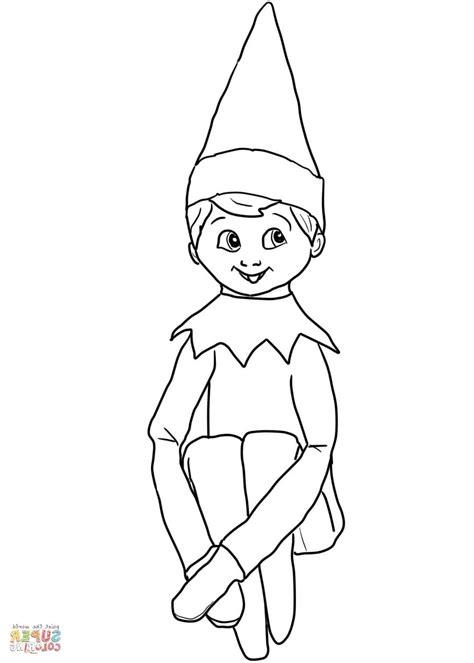 Elf Coloring Pages Printable N2gu Fresh Elf On The Shelf