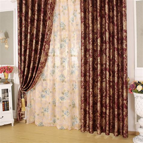 luxury hotel curtains with beautiful floral patterns for