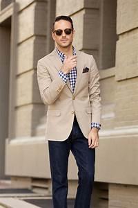 Casual Khaki Blazer - He Spoke Style