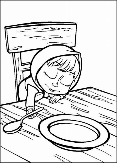 Masha Bear Coloring Pages Episodes Clipartmag Drawing