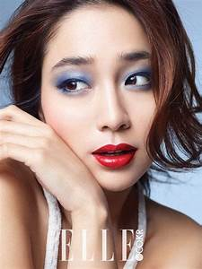 Lee Min Jung experiments with bold makeup for ELLE ...