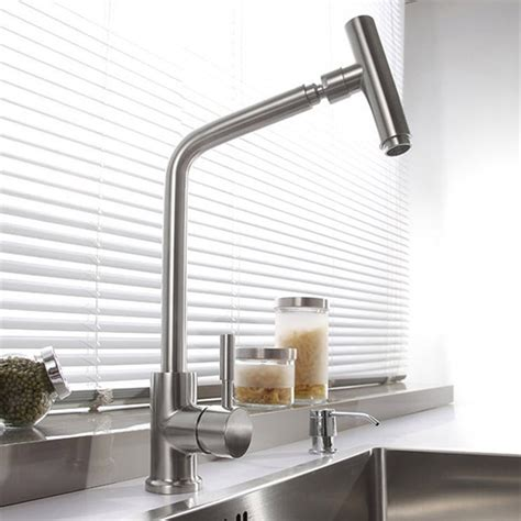 sus  stainless steel rotatable modern kitchen faucet