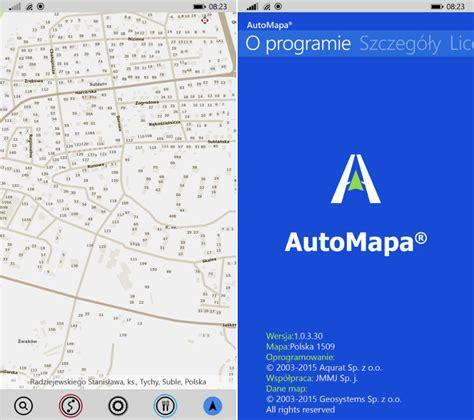 automapa otrzymuje kolejną aktualizację 1 0 3 30 dla telefon 243 w z systemem windows msmobile pl
