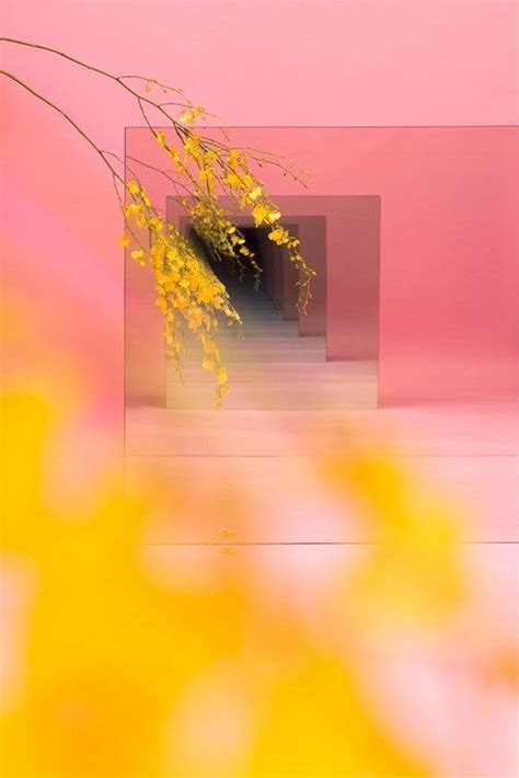 pink and yellow make what color mirror sculptures to make you look and look again