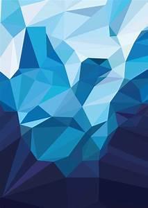 iceberg polygon on pantone canvas gallery