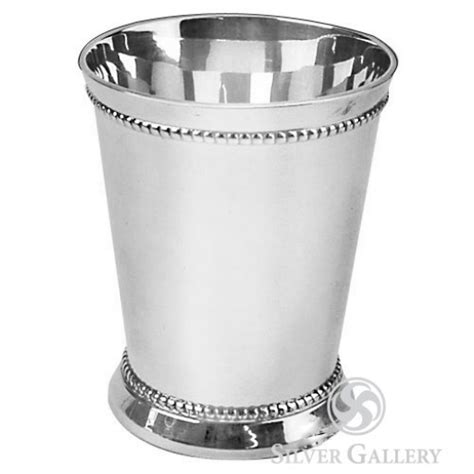 silver plated mint julep cups beaded mint julep cup silver plated 7938