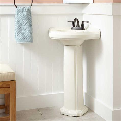 gaston corner porcelain pedestal sink corner sinks
