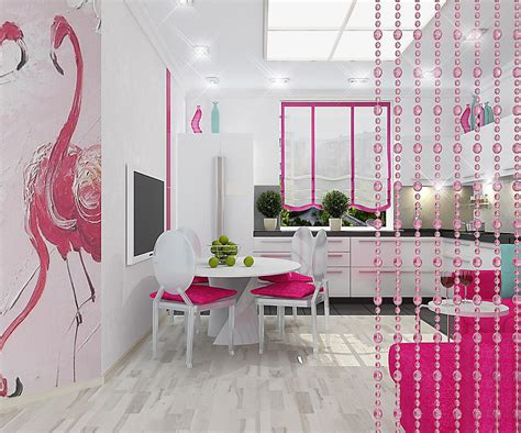 oboi flamingo  foto risunki  rozovymi ptitsami na