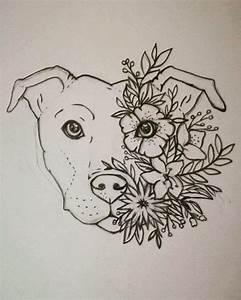 Dog Face Outline Tattoos - Golfian.com
