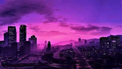 Gta Purple Wallpapers Uhd Backgrounds Night 4k