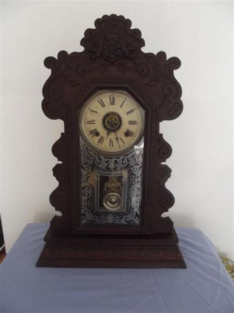 Kitchen Mantle Images by Mantel Clocks An Antique Ansonia Gingerbread Kitchen