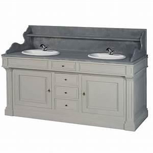 meuble double lavabo With meuble lavabo bois massif 2 grand meuble de salle de bain en pin massif