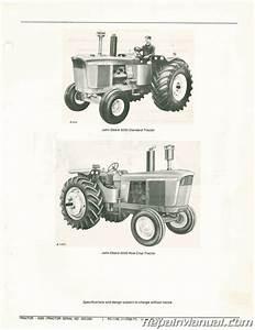 Used John Deere 5020 Tractor Parts Manual Serial No  25000