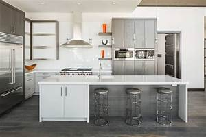 30 gorgeous grey and white kitchens that get their mix right With kitchen cabinet trends 2018 combined with multi color metal wall art