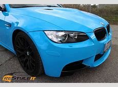 BMW M3 Olympic Blue Vehicle Customization Shop Vinyl