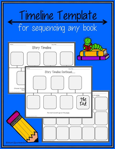 Timeline Template For Story by Sequencing Timeline Template For Any Book Simple Stories