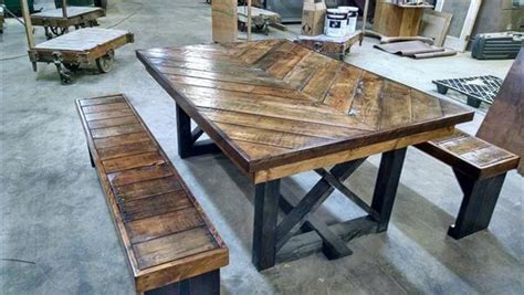 diy pallet chevron kitchen table  pallets