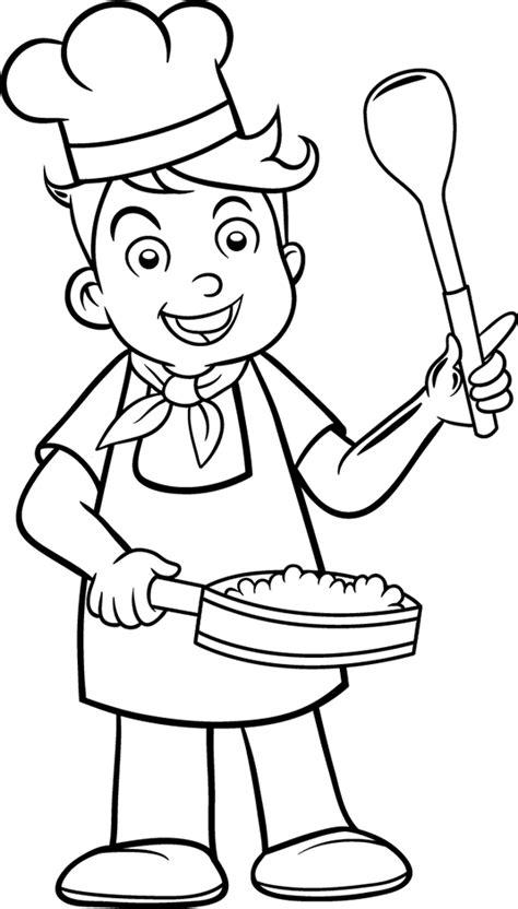 cuisiner de a à z coloriage cuisinier les beaux dessins de personnages à