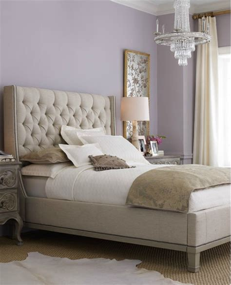 bekkestua headboard standard bed frame guest room lavender and taupe gray color scheme