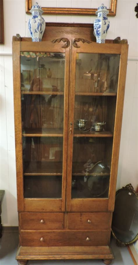 Antique Bookcase Glass Doors by Found In Ithaca 187 Antique Oak Glass Door Bookcase With 3