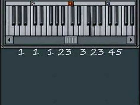 Row Your Boat On Keyboard by Row Row Row Your Boat Song By Numbers