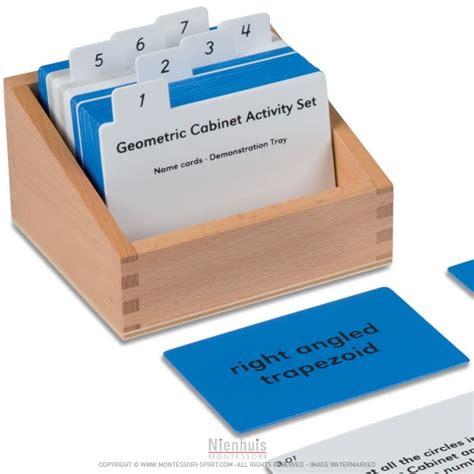 exercices pour cabinet de g 233 om 233 trie en anglais montessori spirit