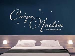 Wandtattoo Carpe Noctem : wandtattoo carpe noctem mit sternen von ~ Sanjose-hotels-ca.com Haus und Dekorationen