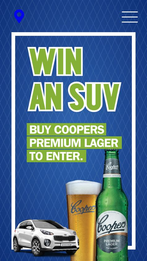coopers lager win   kia sportage gt  awd