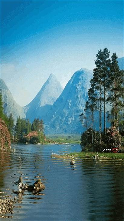 Nature Gifs Animated Graphics Mountains Animation Plus