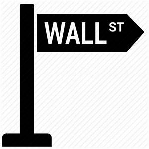 Location, pointer, street sign, wall street icon | Icon ...