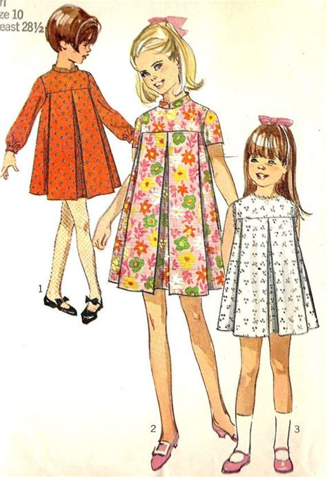 girls tent dress vintage sewing pattern loosely