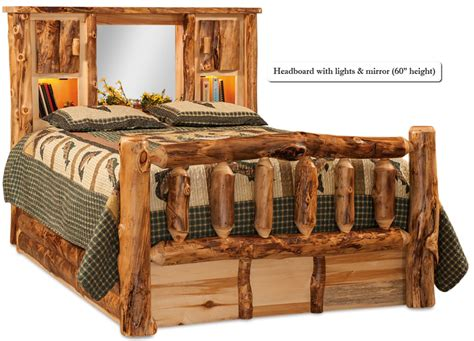 buy  hand crafted american  rustic pine log bed